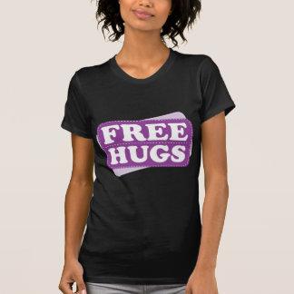 Libere los abrazos - púrpura camisetas