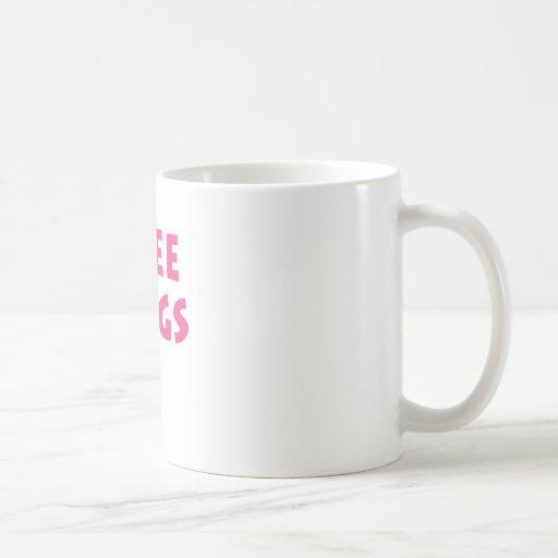 Libere los abrazos taza básica blanca