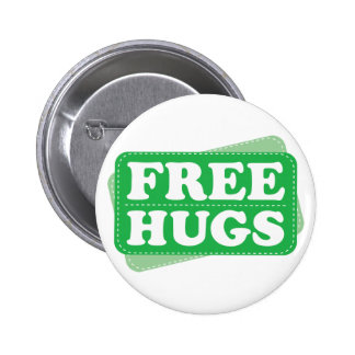 Libere los abrazos - verde pins