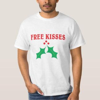 Libere los besos debajo del muérdago playera