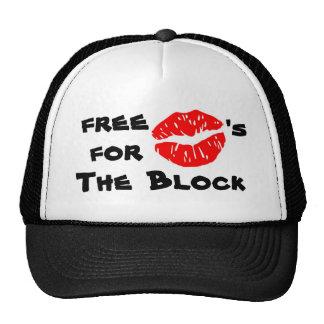 Libere los besos para el gorra del bloque