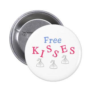 Libere los besos pin redondo 5 cm