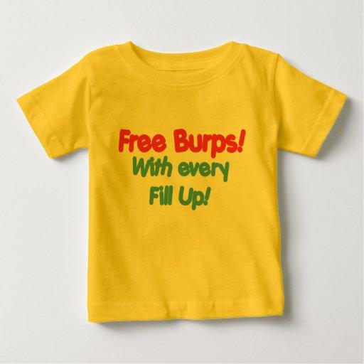 Libere los Burps con cada se llenan Playeras