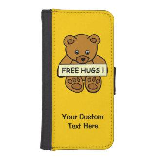 Libere los casos del personalizado del peluche de fundas billetera de iPhone 5