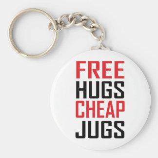 libere los jarros baratos de los abrazos llaveros personalizados
