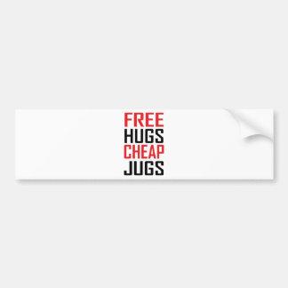 libere los jarros baratos de los abrazos pegatina para auto