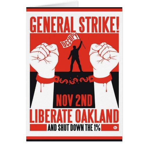 Libere Oakland ocupan el aviador de la protesta Tarjetón