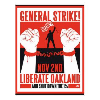 Libere Oakland ocupan el aviador de la protesta Postales