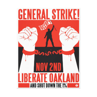 Libere Oakland ocupan la lona envuelta Wall Street Lienzo Envuelto Para Galerias