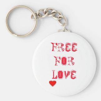 Libere para el amor llaveros personalizados