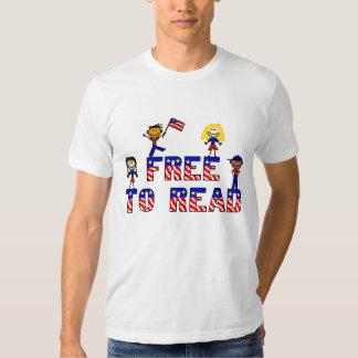Libere para leer a los niños de w, American Camisas