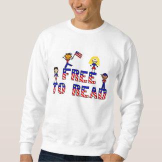 Libere para leer a los niños de w, camiseta sudaderas encapuchadas