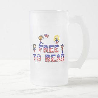 Libere para leer a los niños de w helados asaltan, taza de cristal