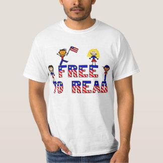 Libere para leer a los niños del palillo de w, remera