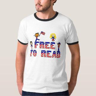 Libere para leer a los niños del palillo de w, remeras