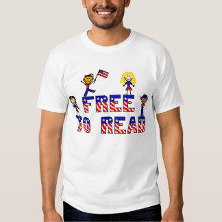 Libere para leer al niño EDUN blanco T VIVO de los Remeras