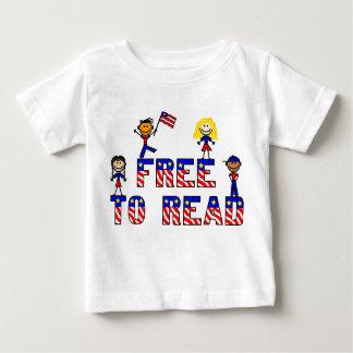Libere para leer al niño T, 5 colores de los niños Camisas
