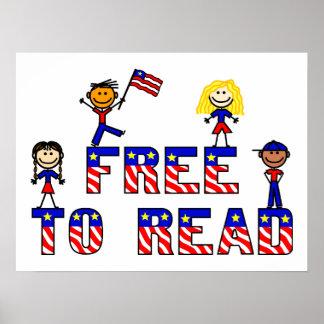 Libere para leer los posters de los niños de w