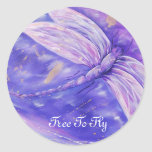 Libere para volar pegatina redonda