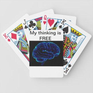 libere, pensando, el movimiento, aprende, enseña baraja cartas de poker
