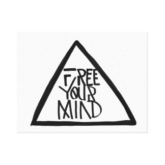 Libere su mente lona estirada galerías