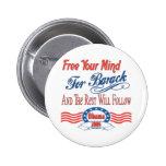 Libere su mente para Barack Pin