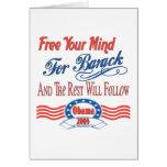 Libere su mente para Barack Tarjetón