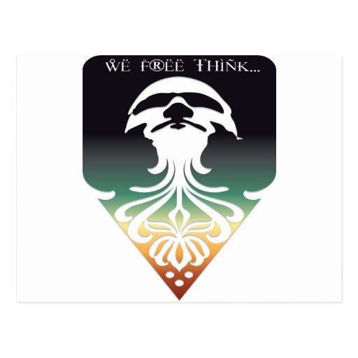 Libere su mente postales