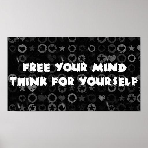 Libere su mente póster