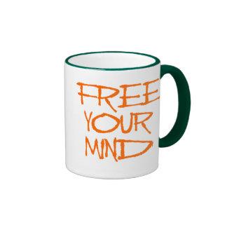 Libere su mente taza de dos colores