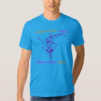 Libere su mente y vaya camiseta de esquí polera
