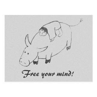 Libere su pintura original del zen de la mente tarjetas postales