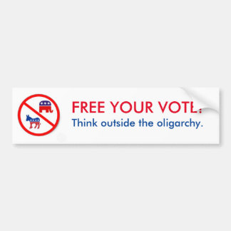 Libere su voto pegatina para auto