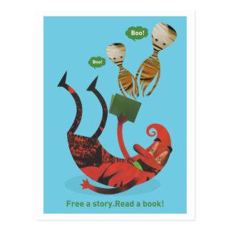 ¡Libere una historia - lea un libro! Tarjeta Postal