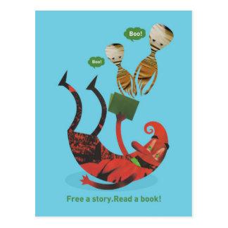 ¡Libere una historia - lea un libro! Postal