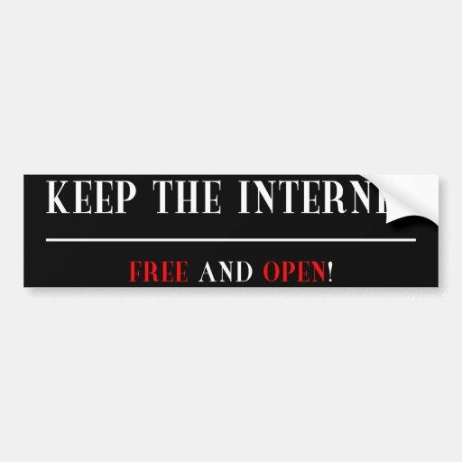 Libere y abra el Internet Pegatina Para Auto