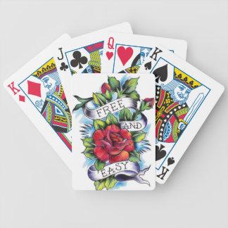 Libere - y - las ilustraciones fáciles del tatuaje cartas de juego