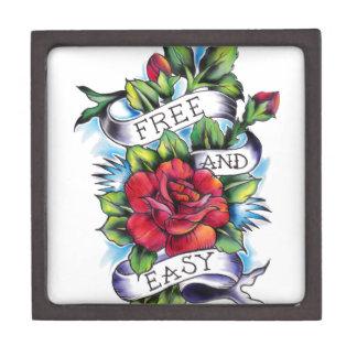 Libere - y - las ilustraciones fáciles del tatuaje caja de recuerdo de calidad