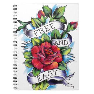Libere - y - las ilustraciones fáciles del tatuaje note book