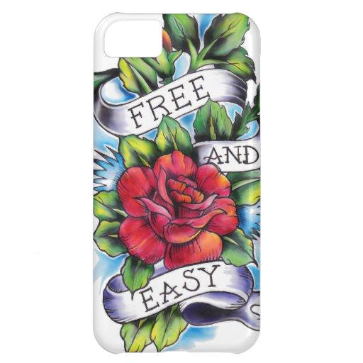 Libere - y - las ilustraciones fáciles del tatuaje funda para iPhone 5C