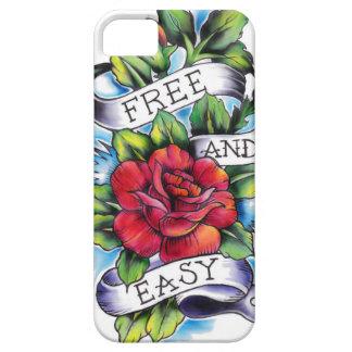 Libere - y - las ilustraciones fáciles del tatuaje funda para iPhone SE/5/5s