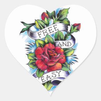 Libere - y - las ilustraciones fáciles del tatuaje pegatina en forma de corazón