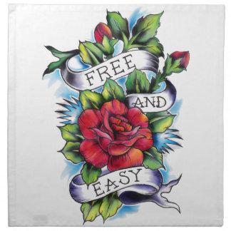 Libere - y - las ilustraciones fáciles del tatuaje servilleta imprimida