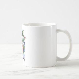Libere - y - las ilustraciones fáciles del tatuaje taza de café