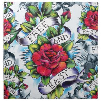 Libere - y - los productos fáciles del tatuaje de  servilleta imprimida