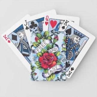 Libere - y - los rosas y la bandera fáciles del cartas de juego
