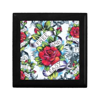 Libere - y - los rosas y la bandera fáciles del ta caja de regalo