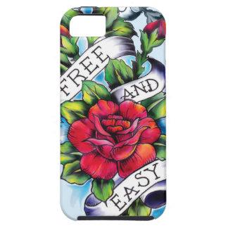 Libere - y - los rosas y la bandera fáciles del ta iPhone 5 Case-Mate cobertura