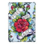 Libere - y - los rosas y la bandera fáciles del ta iPad mini funda