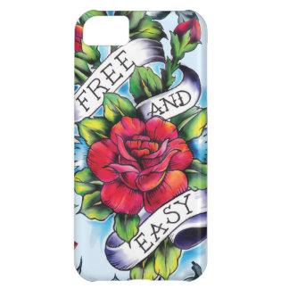 Libere - y - los rosas y la bandera fáciles del ta funda para iPhone 5C